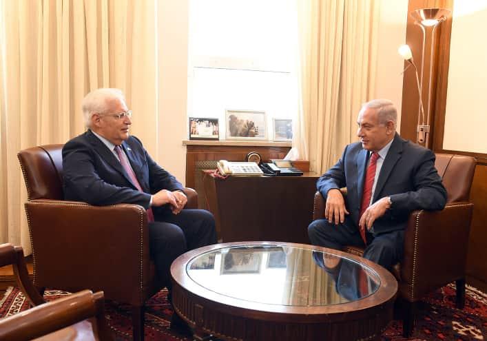 Биньямин Нетаниягу и Дэвид Фридман фото