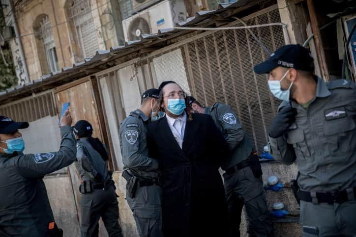 Полиция ультраортодоксы фото