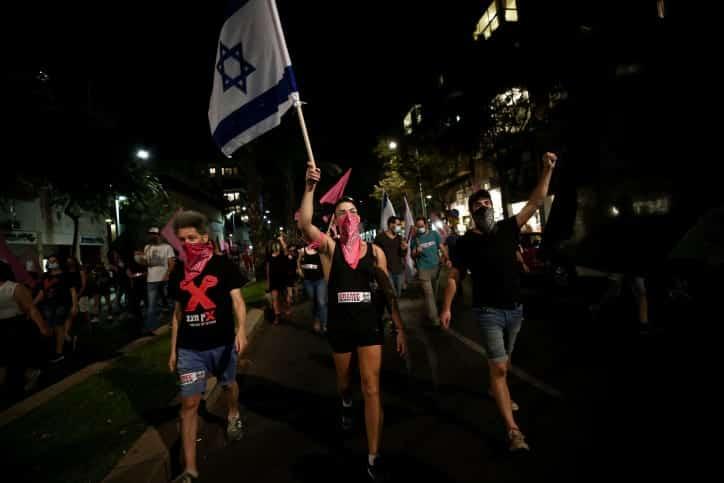 протесты тель-авив израиль фото