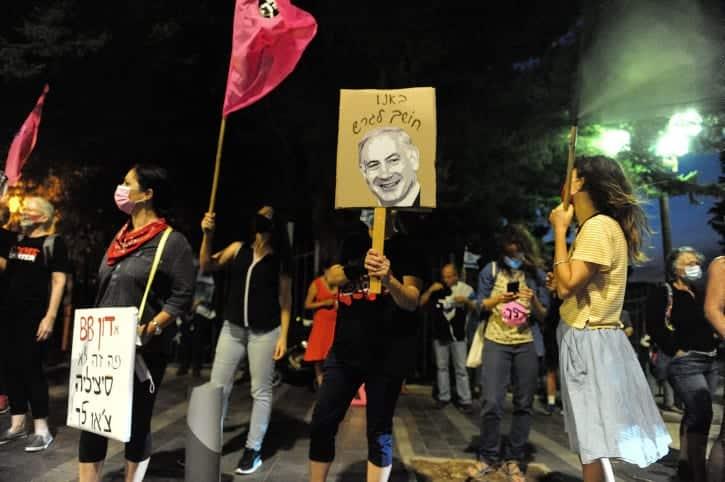 протесты против нетаниягу израиль фото