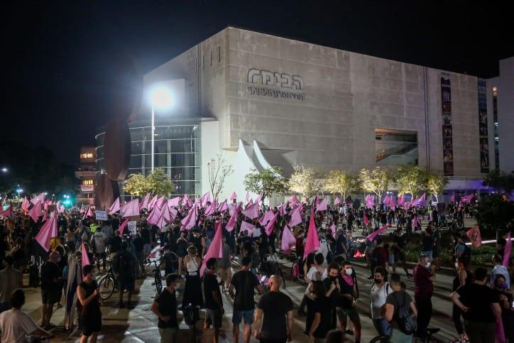 Protesty protiv Netaniyagu v Tel Avive 2 1