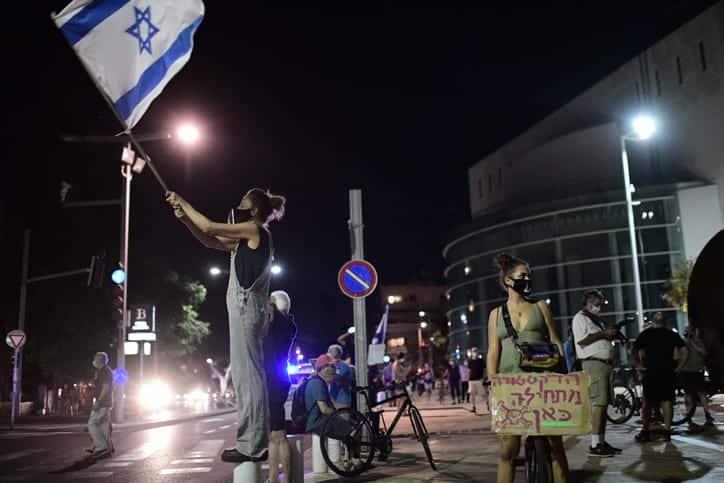 Protesty protiv Netaniyagu v Tel Avive 2