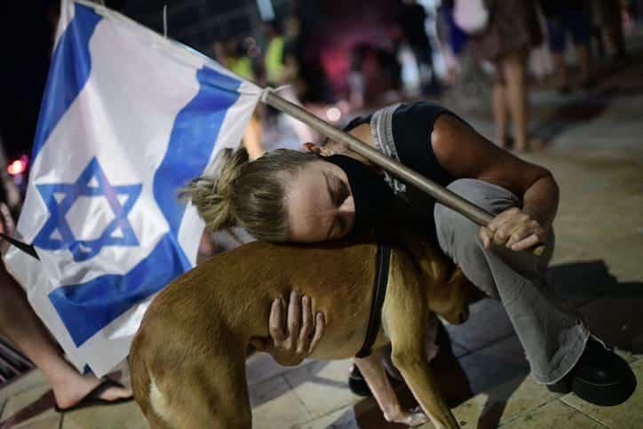 Protesty protiv Netaniyagu v Tel Avive 3