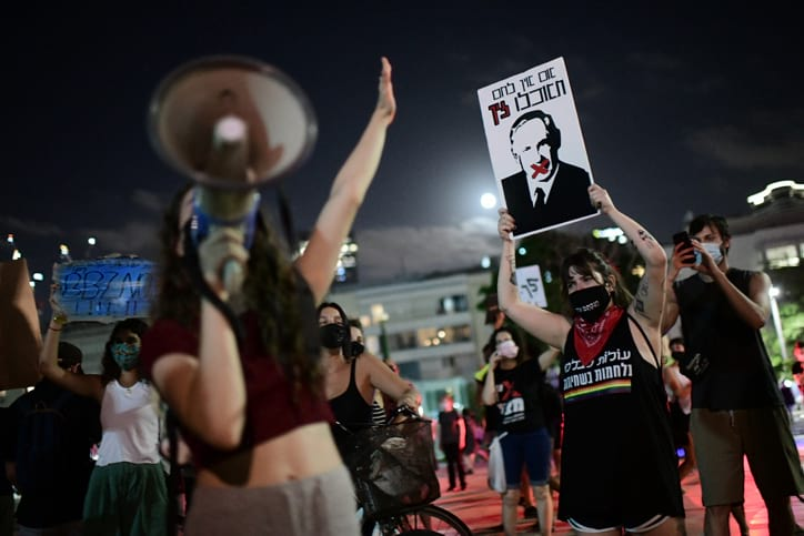 Protesty protiv Netaniyagu v Tel Avive 4