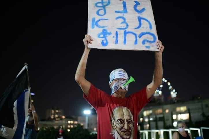 Protesty protiv Netaniyagu v Tel Avive 5 1