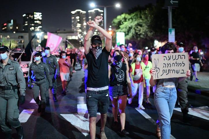 Protesty protiv Netaniyagu v Tel Avive 5