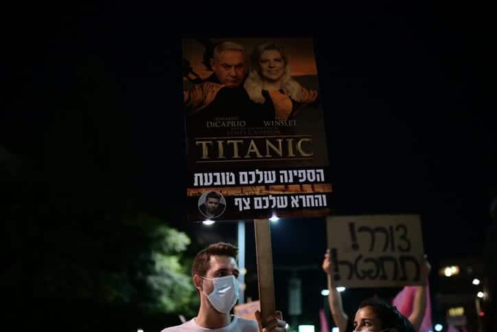 Protesty protiv Netaniyagu v Tel Avive 6 1