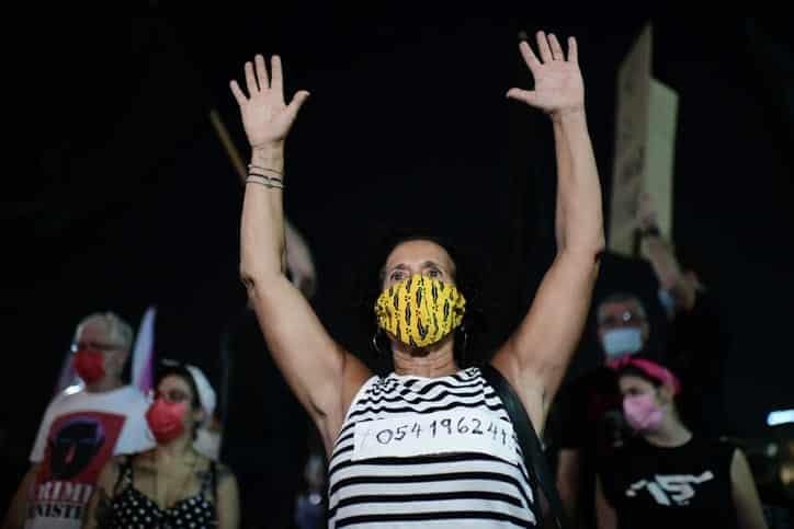 Protesty protiv Netaniyagu v Tel Avive 6