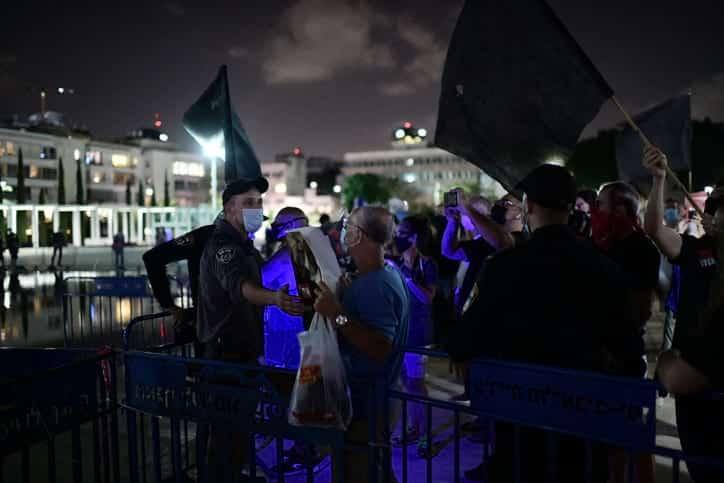 Protesty protiv Netaniyagu v Tel Avive