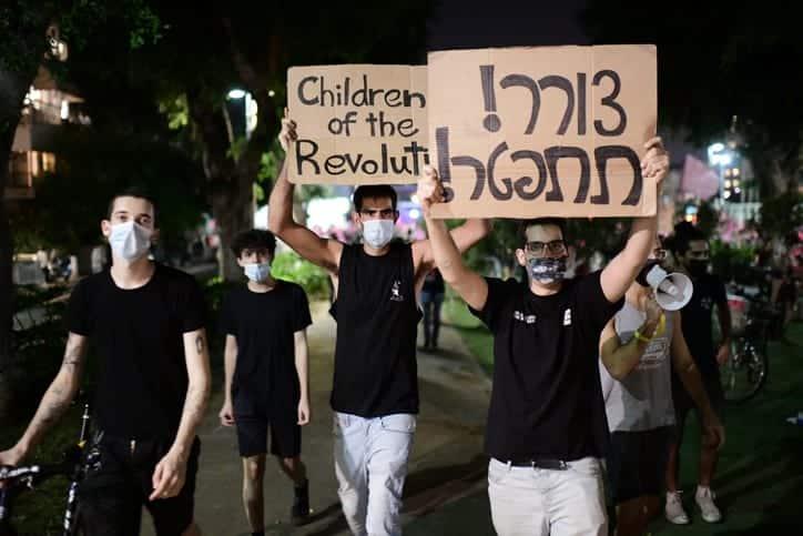 Protesty v Tel Avive 2