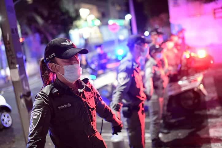 полиция протесты тель-авив израиль фото