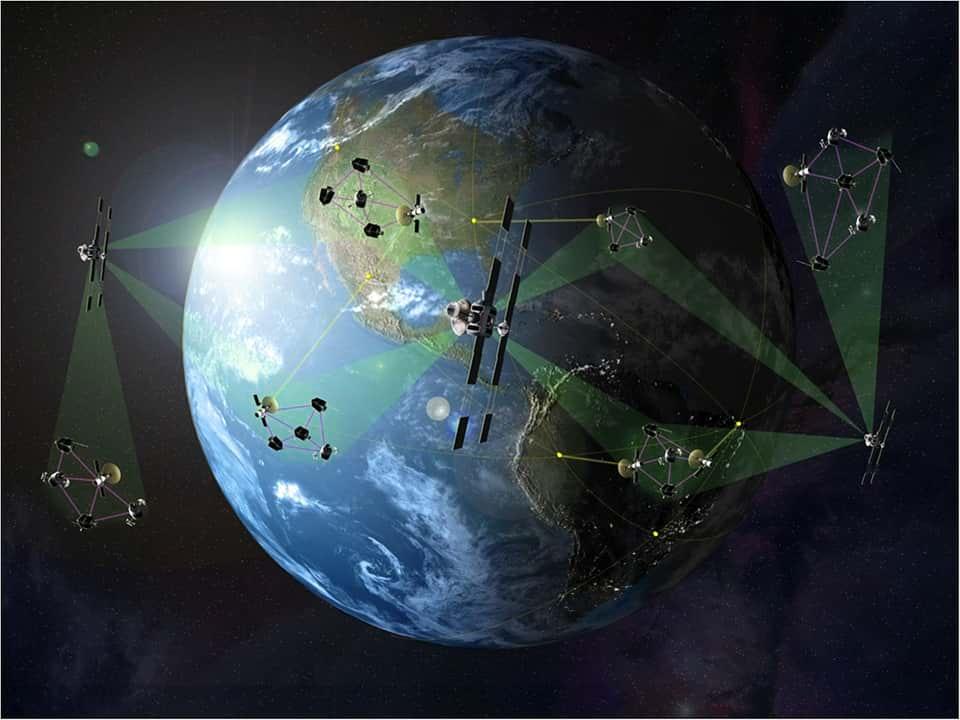 Спутники земля изображение