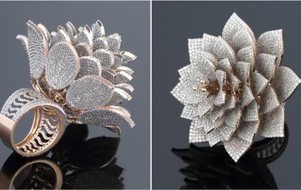 драгоценное кольцо бриллианты фото