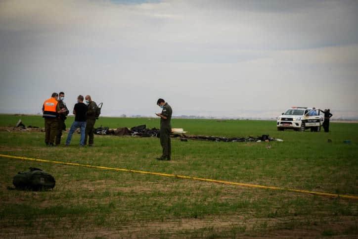 Крушение самолета в Негеве фото
