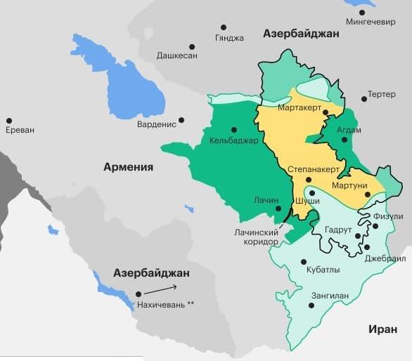 Новая карта Нагорного Карабаха фото