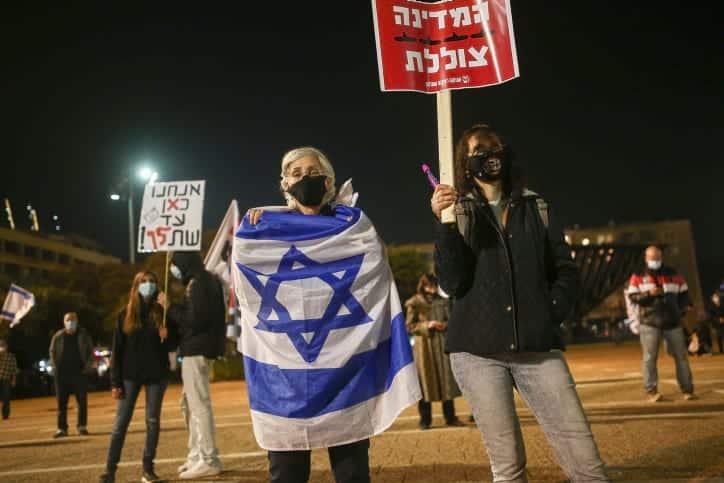 протесты в израиле фото