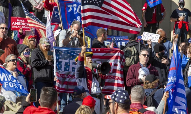 сторонники трампа сша протесты фото