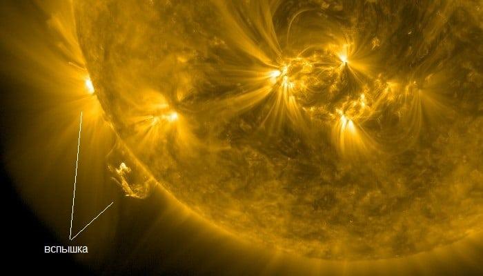 взрыв на солнце фото