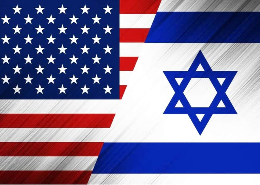 Флаги Израиля и США изображение