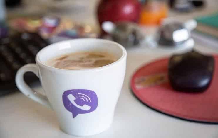 Логотип Viber на чашке фото