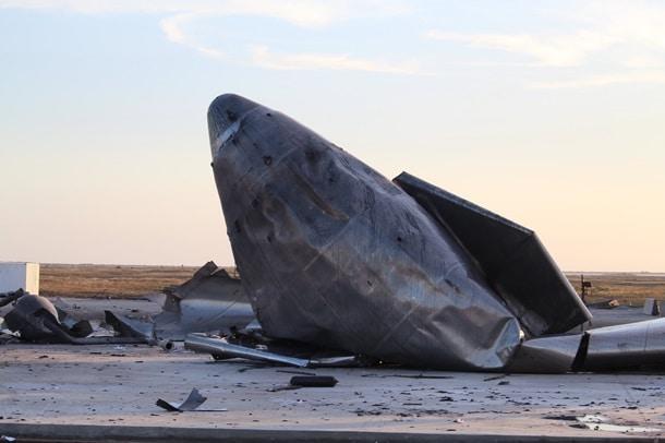 крушение корабля Starship фото