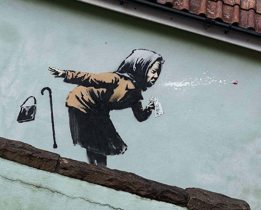 граффити бэнкси фото