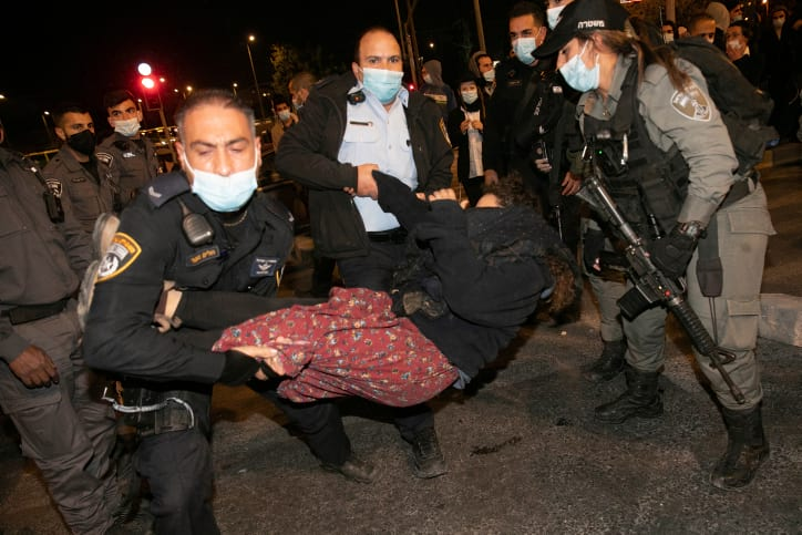 Протесты Иерусалим фото