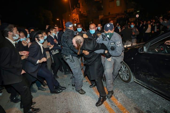 Протесты ультраортодоксов фото