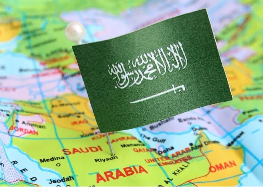 Саудовская Аравия на карте изображение