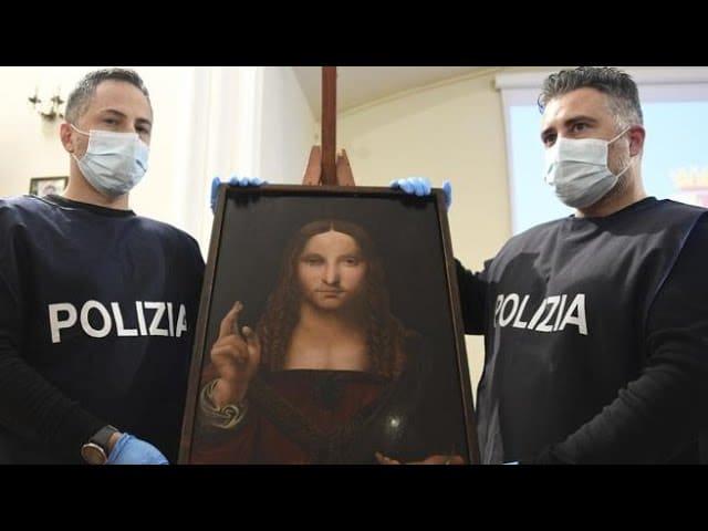 В Неаполе найдена похищенная 500-летняя копия полотна Леонардо да Винчи (ВИДЕО)