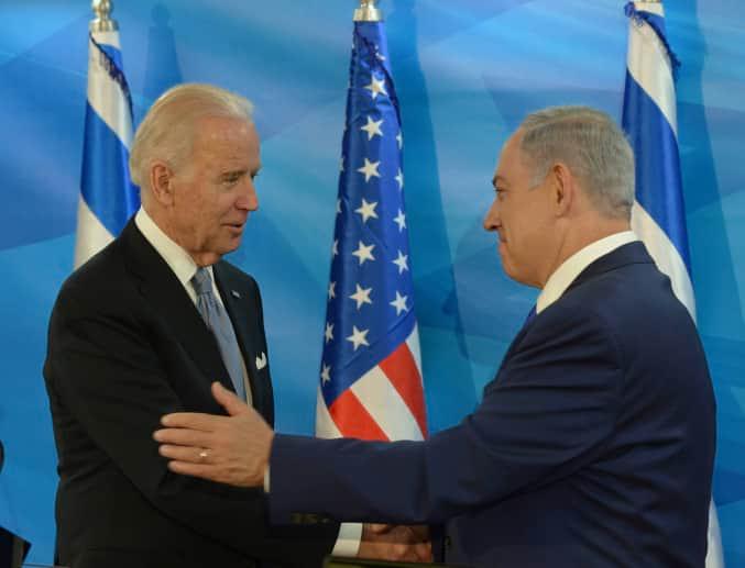 Биньямин Нетаниягу и Джо Байден фото