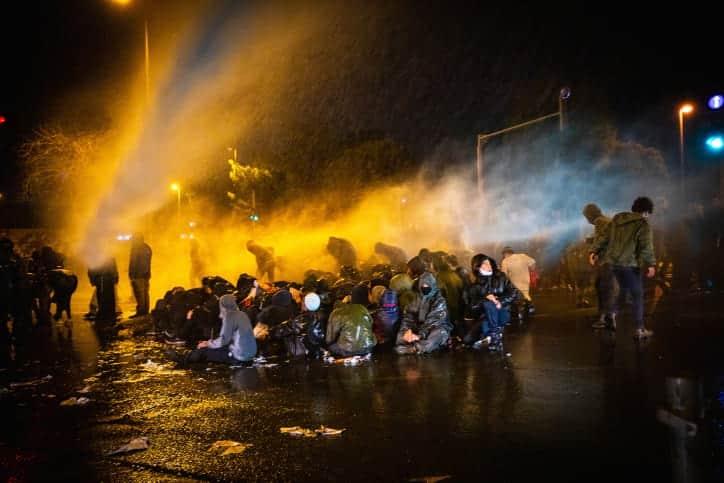 Протесты поселенцев в Иерусалиме фото