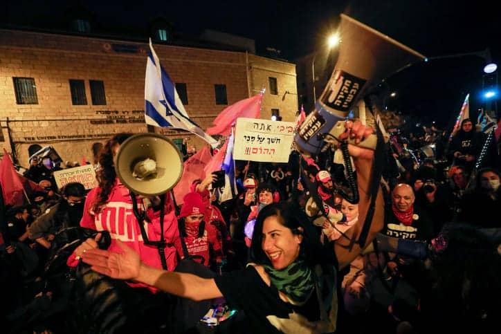 Протесты Израиль фото