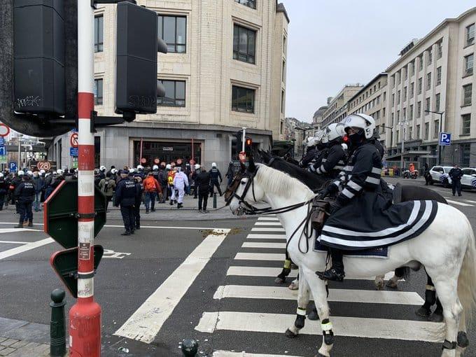 Протесты в Брюсселе фото