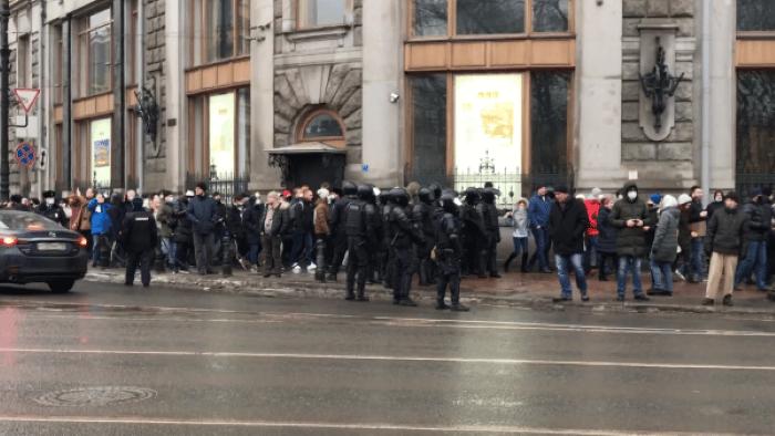 Протесты в России фото