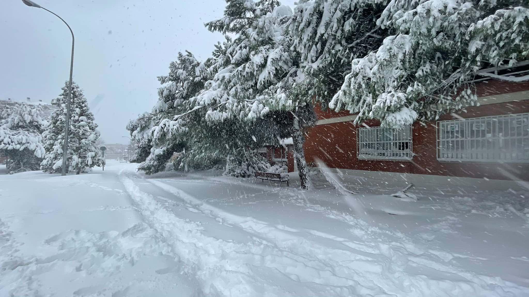 снегопад фото