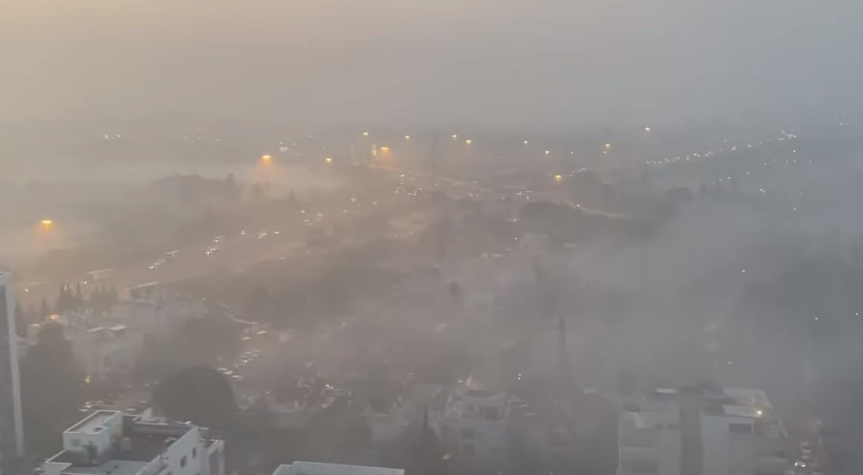 Туман в Израиле фото