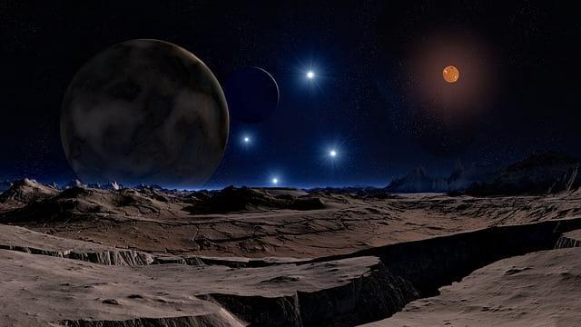 Космос, звезды, планета