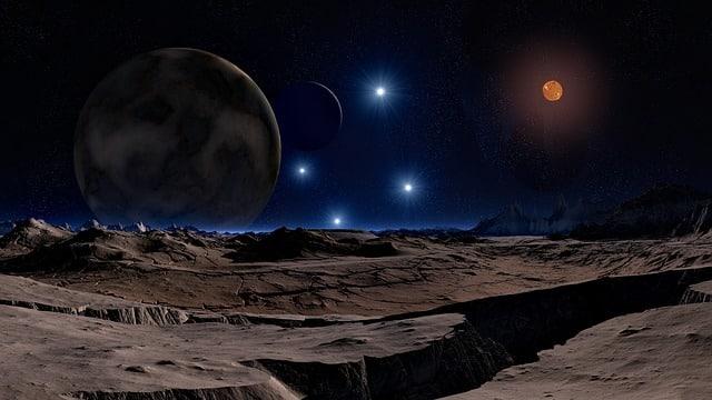 космос планета звезды