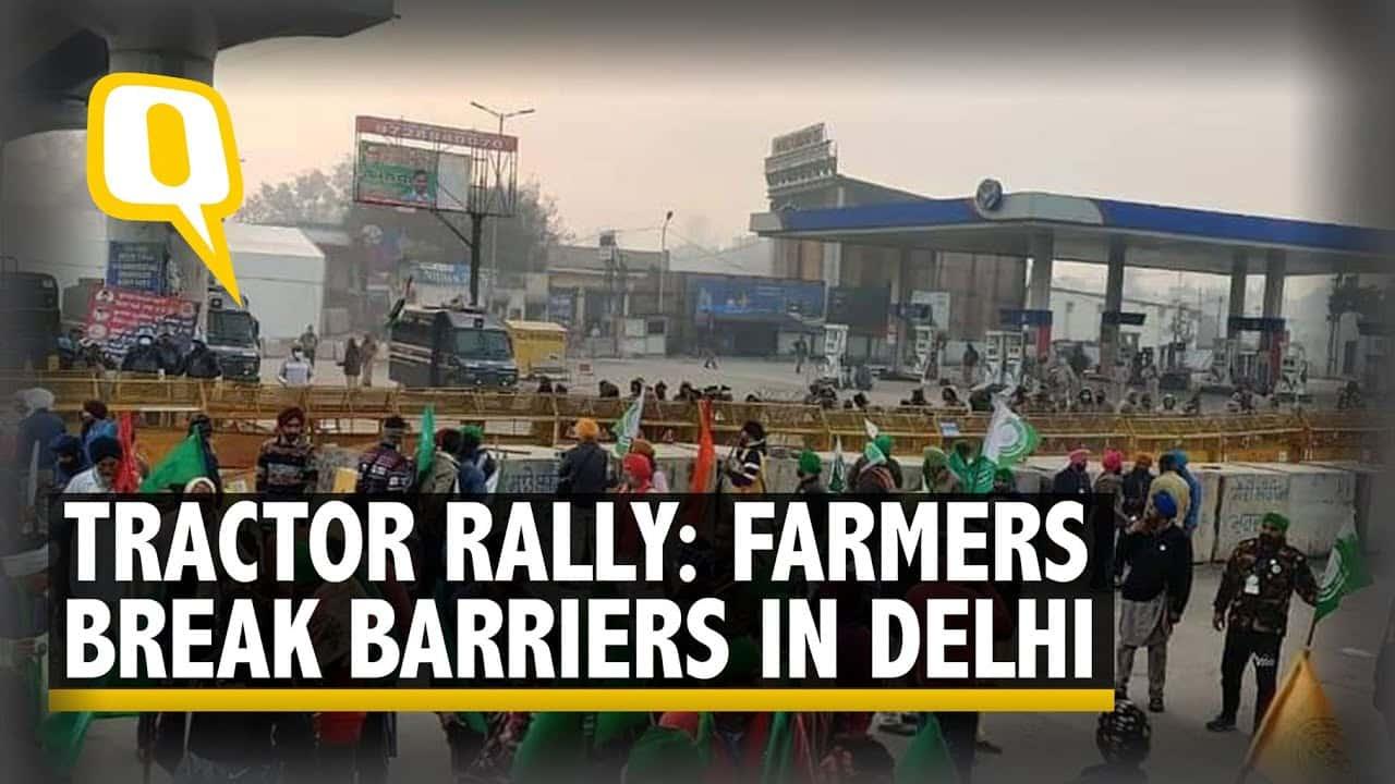 Индийские фермеры спровоцировали масштабные столкновения с полицией в Дели (ВИДЕО)