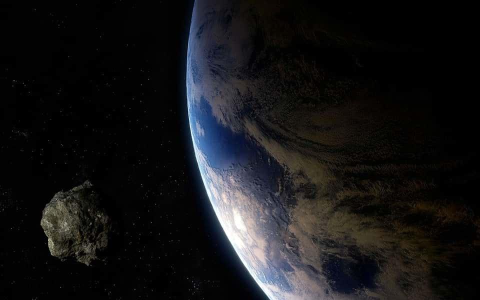 Астероид Земля космос изображение