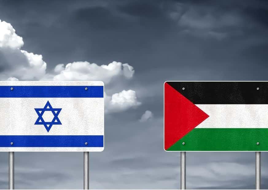 Флаги Израиля и Палестины изображение