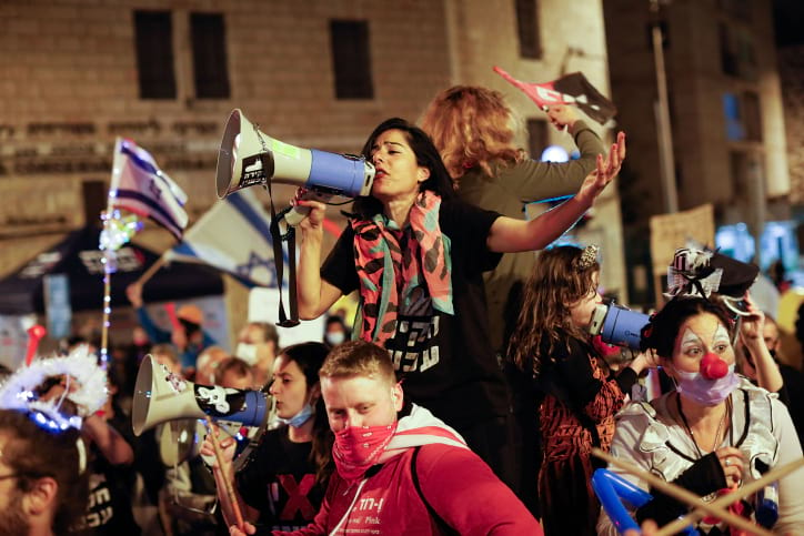 Протесты у резиденции Нетаниягу фото