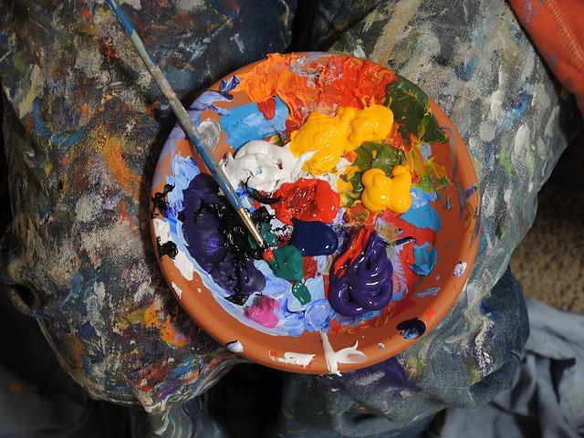 Краски, художник, картина