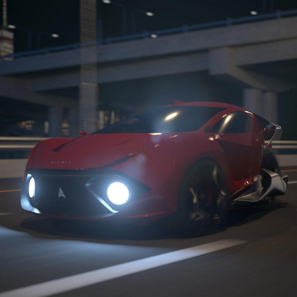 Daymak Spiritus трехколесный автомобиль фото