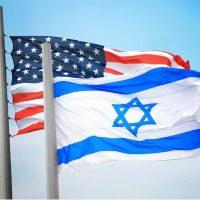 Флаги США и Израиля фото