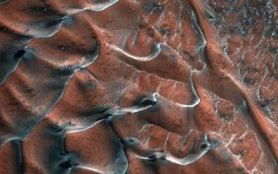 Морозные дюны на Марсе фото
