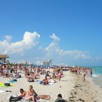 Пляж в Майами-Бич фото