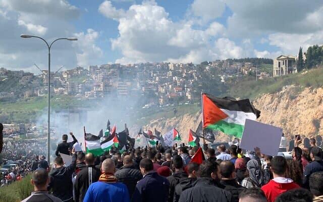 Протест в Умм-эль-Фахме фото