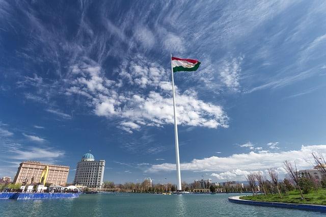 Душанбе Таджикистан флаг фото